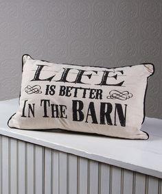 Look at this #zulilyfind! 'Life is Better' Pillow #zulilyfinds