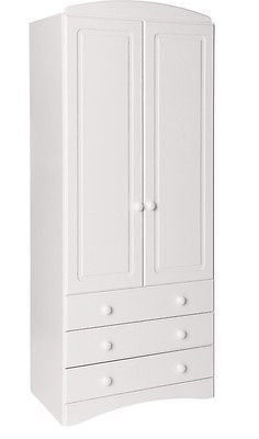 #Scandi white home #bedroom #furniture 2 door 3 drawer clothes wardrobe,  View more on the LINK: http://www.zeppy.io/product/gb/2/231912235775/