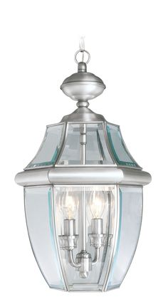 Livex Lighting 2255-91 Monterey Outdoor Pendant Brushed Nickel