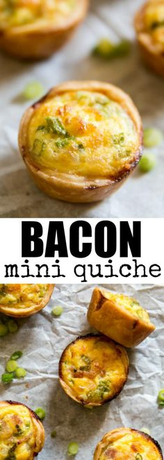 Super simple Mini Bacon Quiche starts with store-bought pie crust. It's Quiche Lorraine in miniature form and perfect for parties and small hands!