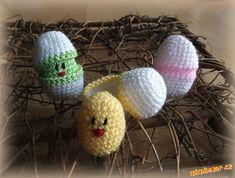 Kuřátka ve vajíčku Elsa, Coasters, Crochet Hats, Knitting Hats, Coaster