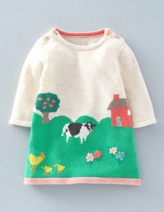 Fun Knitted Dress 71475 Day Dresses and Pinnies at Boden