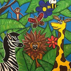 Friends in the Jungle by LollipopDesignsAU on Etsy, $225.00