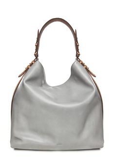 Two-tone maxi bucket bag