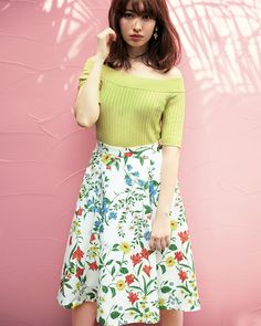 Fashion Models, Fashion Outfits, Womens Fashion, Haruna Kojima, Floral Print Skirt, Everyday Outfits, Summer Collection, Asian Woman, What To Wear