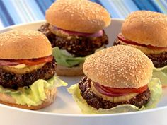 Pineapple teriyaki burgers! I made these back in high school after seeing this on the food network channel and they were so good. Glad I came across the recipe again