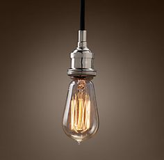 20Th C. Factory Filament Bare Bulb | Restoration Hardware