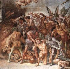 Luca signorelli, cappella di san brizio, dannati all'inferno 03 - Cappella di San Brizio - dettaglio
