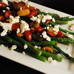 Balsamic Tomato Asparagus Recipe - ZipList oh YUM!!