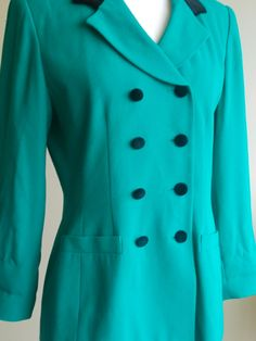 VTG Emerald Blazer 'SilkLeatherandLace' on Etsy