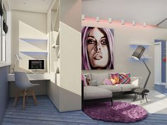 Com cores e integração perfeita, esse flat é a prova de que pequenos imóveis podem ficar fantásticos quando se abusa da criatividade.     ...