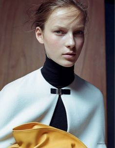 Julia Bergshoeff by Karim Sadli for Vogue UK January 2015