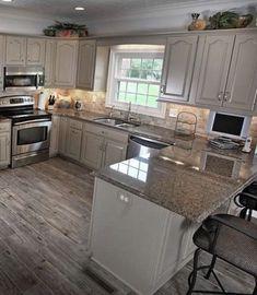 Diy Kitchen Remodel, Kitchen Redo, Home Decor Kitchen, Interior Design Kitchen, New Kitchen, Home Interior, Kitchen Facelift, Kitchen Designs, 10x10 Kitchen
