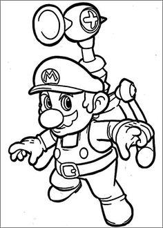 Mario Bross Fargelegging for barn. Tegninger for utskrift og fargelegging nº 18