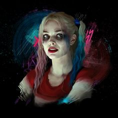 Harley And Joker Love, Harey Quinn, Daddys Little Monster, Beauty And The Beast Movie, Harley Quinn Drawing, Margot Robbie Harley Quinn, Harley Quinn Cosplay, Warrior Girl, Girl Photo Poses