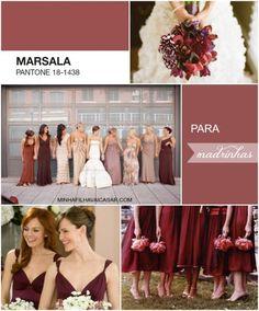 marsala pantone bridesmaids wedding casamento inspire minha filha vai casar 1