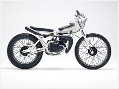 "'88 Yamaha DT50MX - ""CocaineWhite"" - Pipeburn - Purveyors of Classic Motorcycles, Cafe Racers & Custom motorbikes"