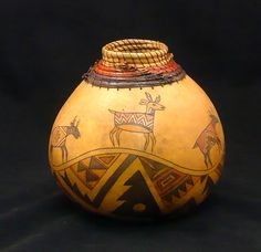 "*Gourd Art - ""Where Antelopes Play"" by Judy Richie"