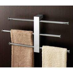 Nameeks 7630 Gedy Wall Mounted Towel Rack with Sliding Rails Polished Chrome Bathroom Hardware Towel Rack