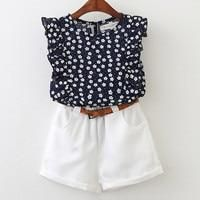 Cheap kids summer suits, Buy Quality girls clothing directly from China summer suit Suppliers: Bear Leader 2018 New Summer Casual Children Sets Flowers Blue T-shirt+ Pants Girls Clothing Sets Kids Summer Suit For Years Baby Girl Shirts, Baby Girl Dresses, Shirts For Girls, Baby Girls, Kids Girls, Summer Girls, Summer Baby, Baby Boy, Spring Summer