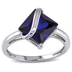 Miadora 10k White Gold Gemstone Ring - Overstock™ Shopping - Top Rated Miadora Gemstone Rings