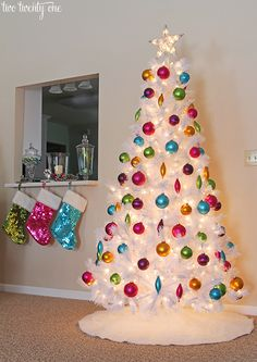 """white christmas tree"" ""bright ornaments - Google Search"