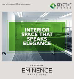 Keystone Eminence - Interior Space That Speaks Elegance www.keystonelifespaces.com #wakad #commercial #Office #Industry