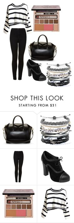 """""""comfy classic"""" by cupcakegirlxo ❤ liked on Polyvore featuring Givenchy, Domo Beads, Topshop and Urban Decay"""
