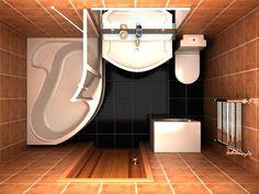 Туалет в цветах: желтый, черный, серый, белый, коричневый. Туалет в .