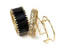 Polished City Look: Statement Bracelets -                                                                        Petal to the Metal Dragon Cuff Bracelet                                 Engraved Cuff                                 Gold Geometric Bangle Bracelet                                 Gunmetal & Blue Stone Cuff...  #Bangle, #Bib, #Blazer, #Chandelier, #Charm, #Clutch, #Costume, #Diamond, #Dress, #Eyewear, #Footwear, #Jacket, #Loafers, #Messenger, #Rhineston