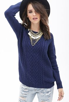 Mixed Knit Sweater | FOREVER21 - 2000067412