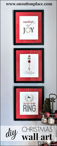 Free printables to frame for instant and festive Christmas wall art!