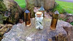 SMOKY CITRINE POINT -ENERGY CLEANSING  HEALING HAPPINESS