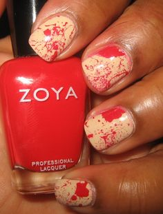 True Blood Splatter Nails