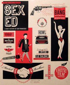 San Francisco Smut History Poster by Jayde Cardinalli