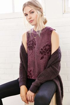 Ecote Maya Embroidered Tank Top - Urban Outfitters