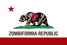 Zombifornia Republic California Bear Flag | Bear Flag Museum