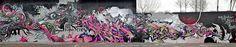 Big Walls By Defco, Stack, Reiz, Red, 6pack - Ivry-sur-Seine (France) - Street-art and Graffiti | FatCap