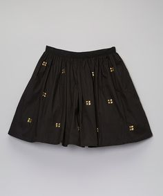 Take a look at the Black Stud Ivy Skirt - Toddler & Girls on #zulily today!