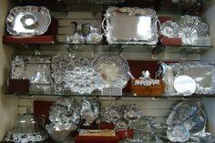 Copper Lamp - Fine Silver and China