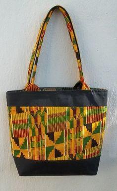 Colorful African design tote bag von MallorysDesign auf Etsy, $25.00