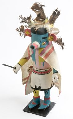 Hopi kachina dolls.  My mom made many of these, and they were beautiful!!  Wish I could have had them when she passed away.