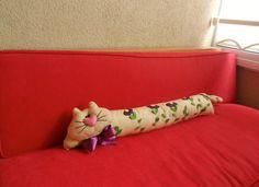 Kedili Yastık - Uzun Kedi