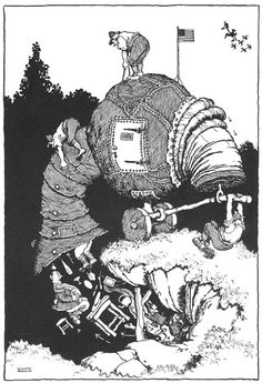 The American Suction Tank for drawing the enemy from his dug-out. An idea for a new form of weapon Framed Print Framed, Poster, Canvas Prints, Puzzles, Photo Gifts and Wall Art Vintage Artwork, Vintage Images, Vintage Illustrations, Fine Art Prints, Framed Prints, Canvas Prints, Heath Robinson, Black And White Drawing, Tank Warfare