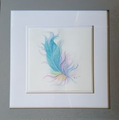 Feather painting. watercolour painting