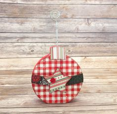 """Christmas Ornament Wood Home Decor Kit - December Interchangeable """"O"""" by ScrapHappyPagesStore on Etsy"""