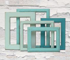 Shabby Chic Frames Picture Frames Picture Frame Set Turquoise Home Decor Beach Wedding Decor. $74.00, via Etsy.