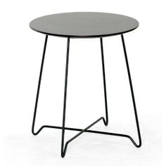Baxton Studio Dark Brown Modern End Table, Dyer by Baxton Studio. $67.99. Very dark brown (wenge) finish. Assembly required. Made in China. Black powder-coated steel legs. Engineered wood with basswood veneer. The Dyer End Table is a Jack of all trades: it functions well alongside a small club chair, contemporary sofa, or even as a bedside table. This petite side table is made with engineered wood with very dark brown (wenge) stained basswood veneer. The legs are black powder-co...