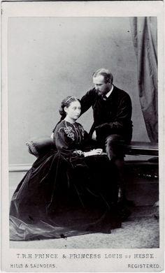 "Grand Duchess Alice and husband Grand Duke Ludwig IV of Hesse (Darmstadt) and By Rhine. ""AL"""