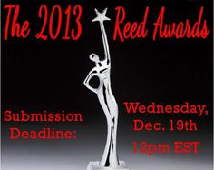 5 days left to submit your entries for the 2013 #ReedAwards. Submit now at www.TheReedAwards.com